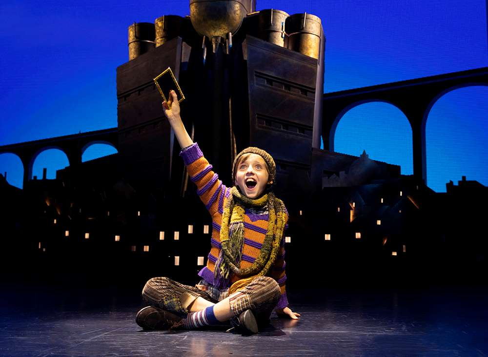 Rueby Wood as Charlie in Broadway's 'Charlie and the Chocolate Factory.'