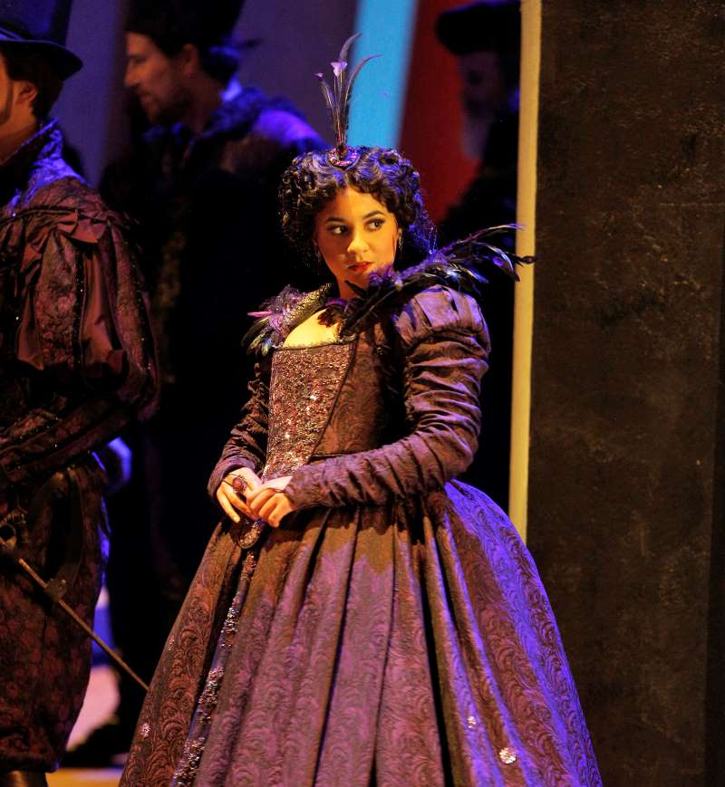 Amina Edris as Countess Ceprano in Verdi's 'Rigoletto.'