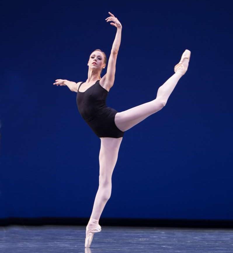 PNB principal dancer Lesley Rausch in 'Agon.'