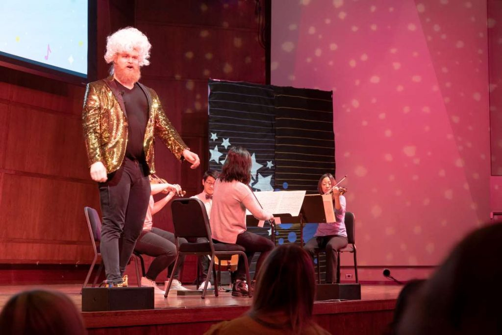 John Turman hosting Seattle Symphony's Tiny Tots Concert.