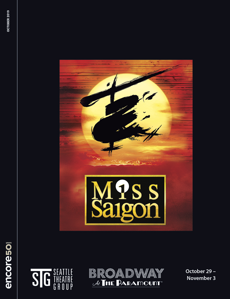 Cover for Miss Saigon at Seattle Theatre Group 2019.
