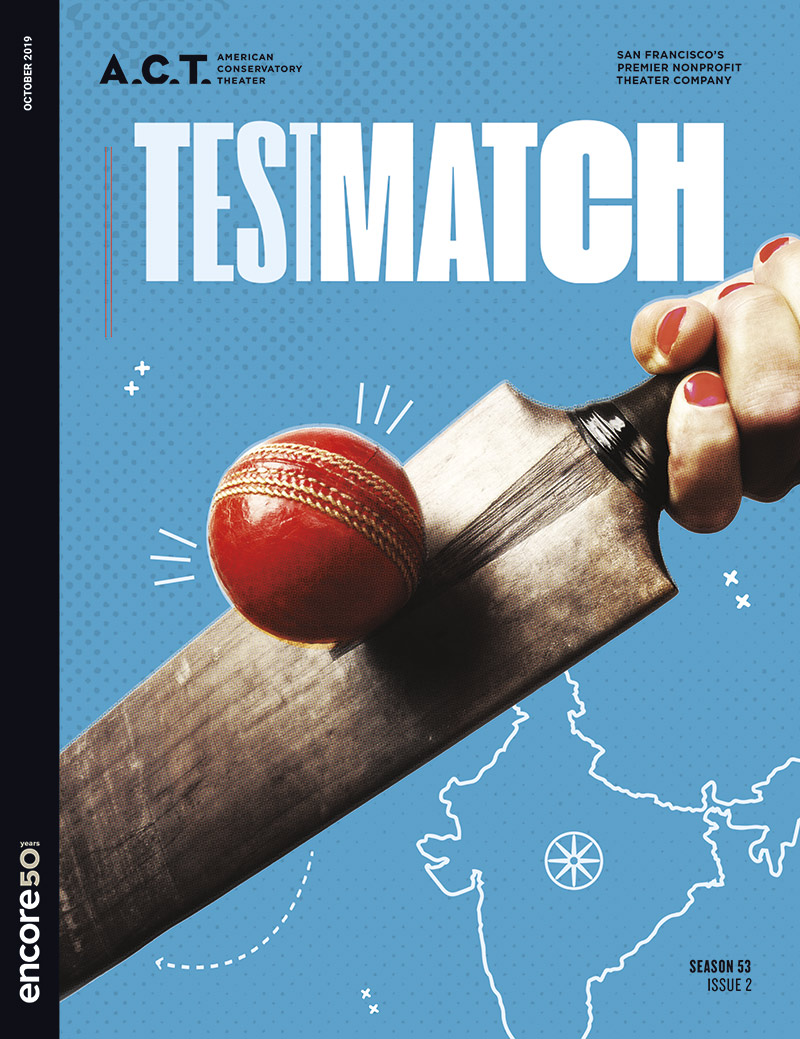 Cover for testmatch at American Conservatory Theatre San Francisco, 2019.