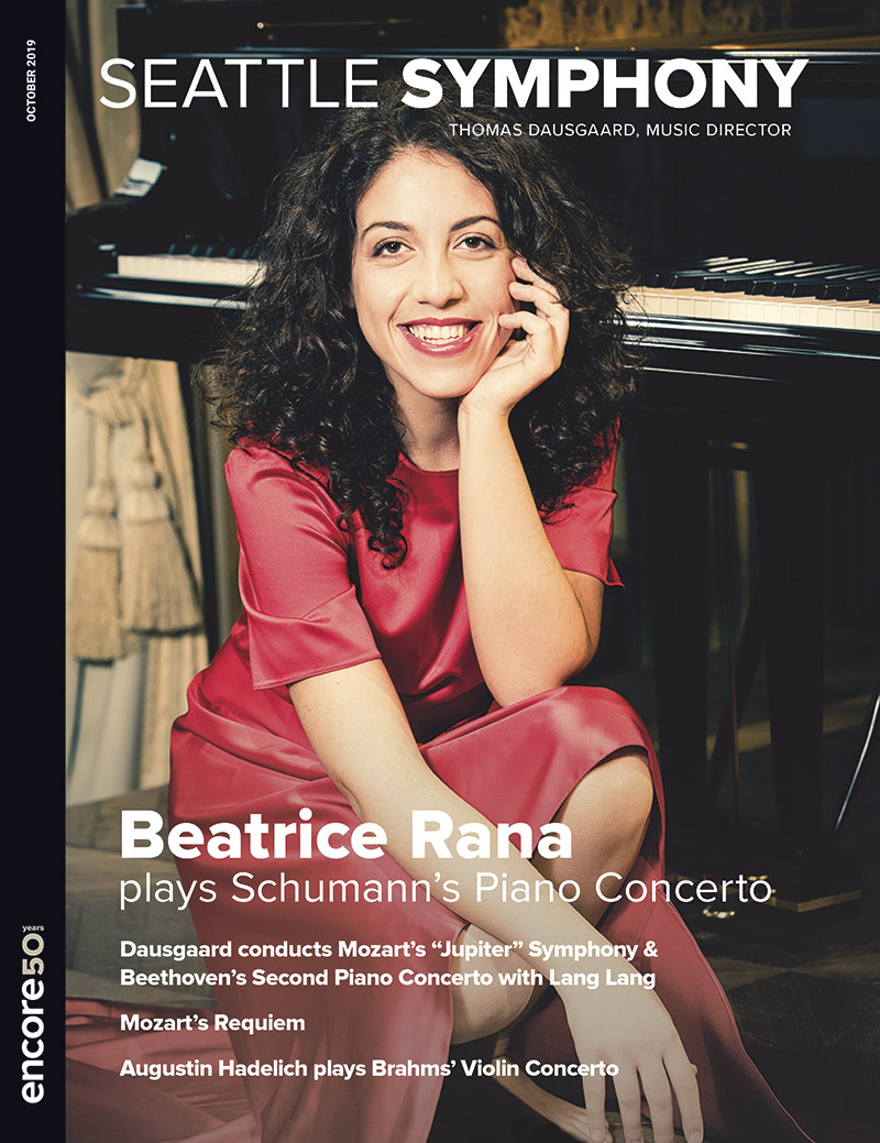 cover art for the october 2019 program at seattle symphony.