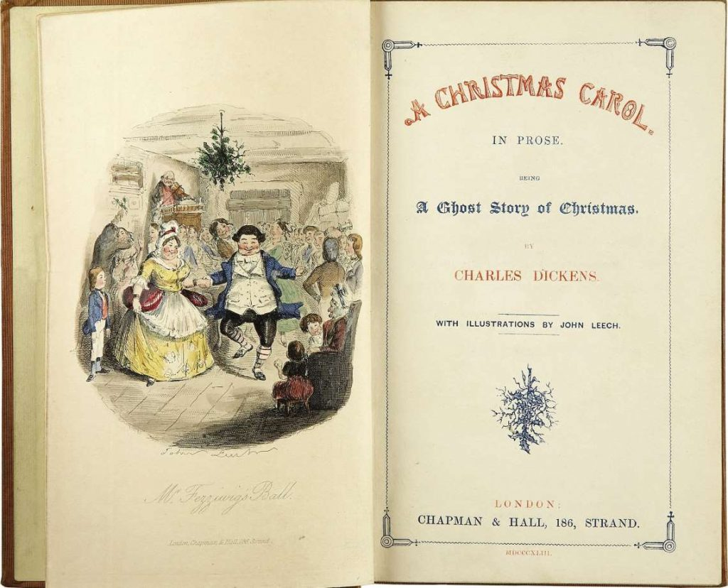 Title page of the first edition of 'A Christmas Carol' (1843).