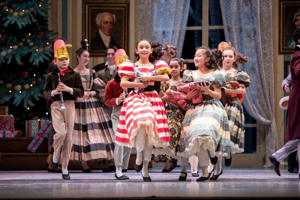 Elise Hueffed, with Pacific Northwest Ballet School students in 'George Balanchine's The Nutcracker' in 2018.