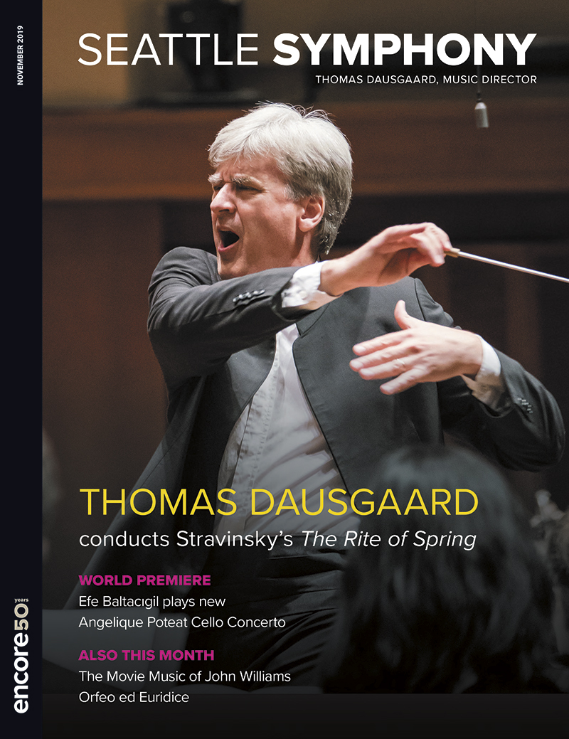 Cover for the November 2019 program for the Seattle Symphony.