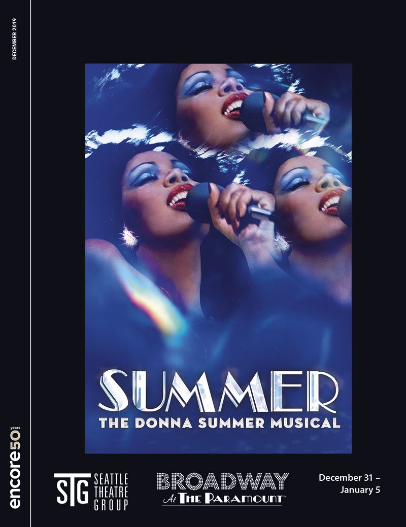 Cover for Summer: the Donna SUmmer Musical at Broadway at the Paramount, 2019.