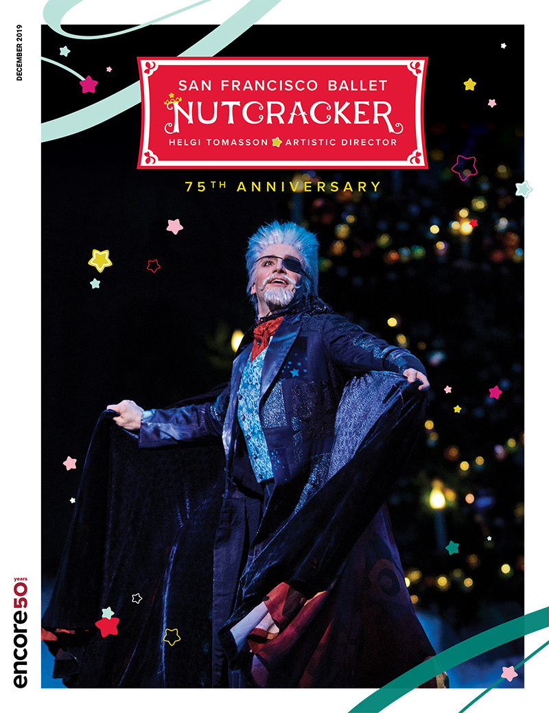 cover for the Nutcracker at San Francisco Ballet, 2019.