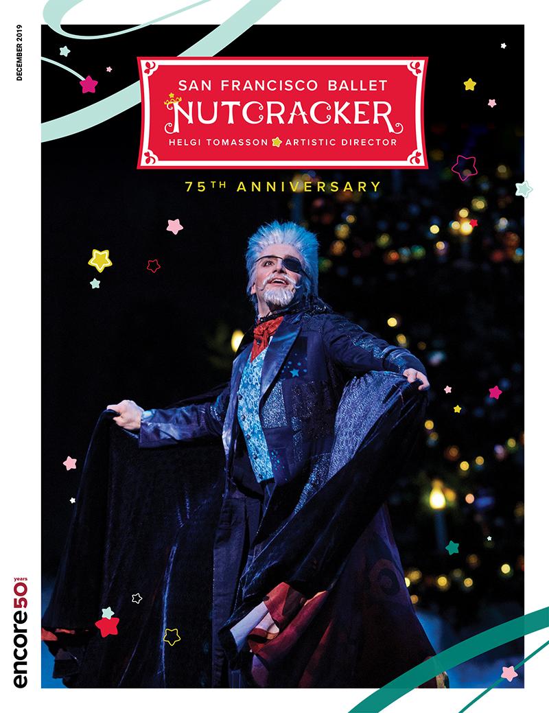 cover for the Nutcracker at San Francisco Ballet, 2019.