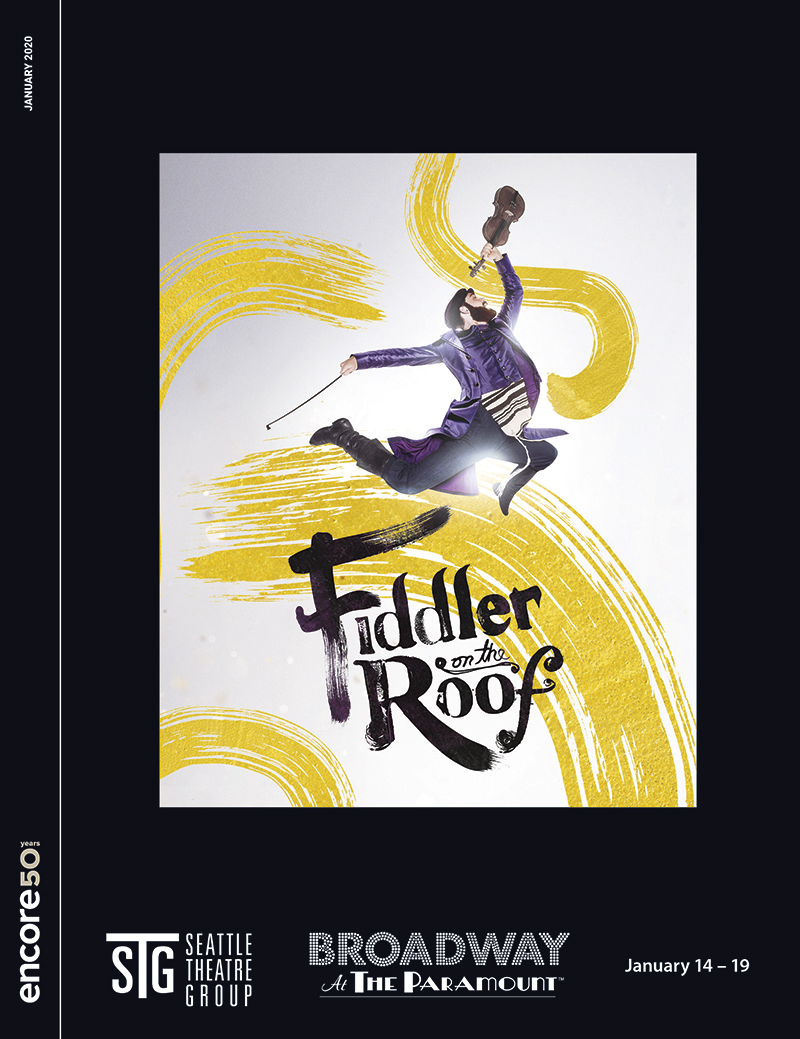 Cover for Fiddler on the roof at the Paramount, 2020.
