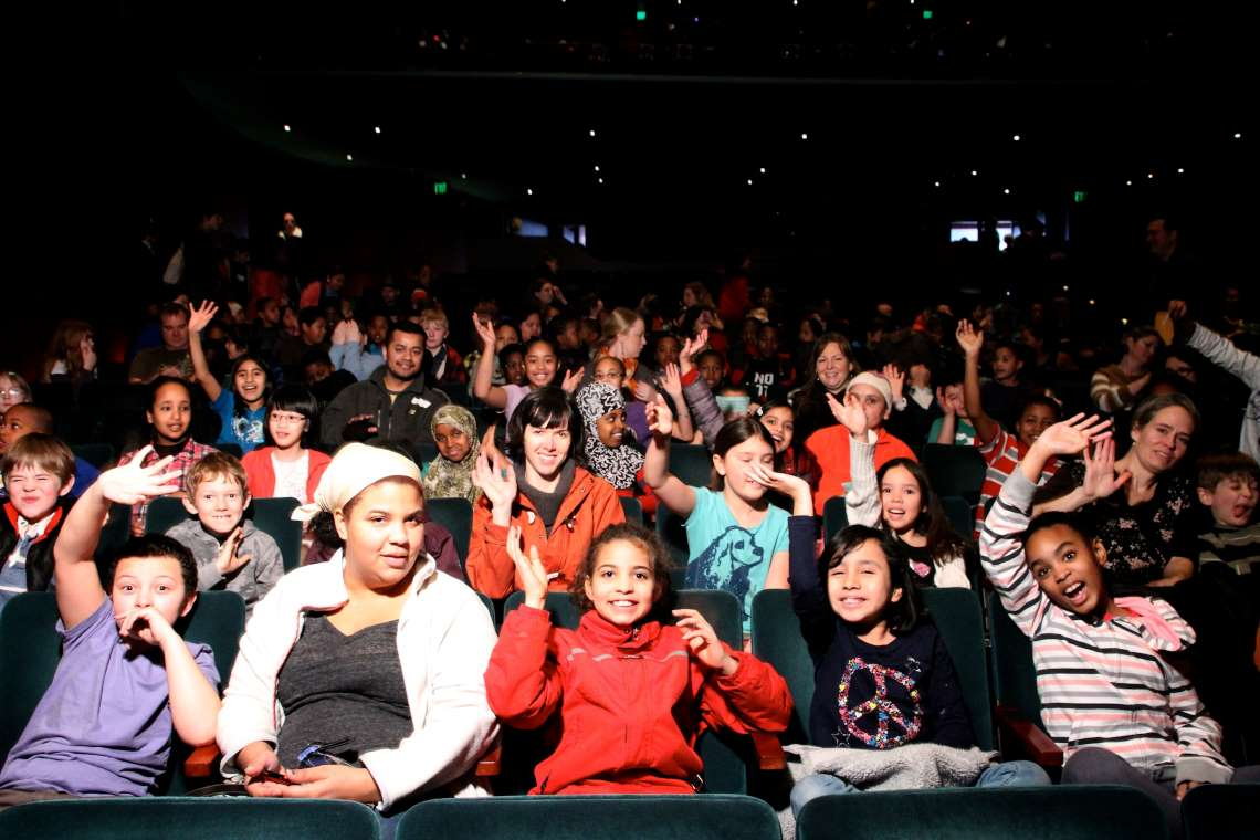 Audience members at a Pacific Northwest Ballet student matinee.