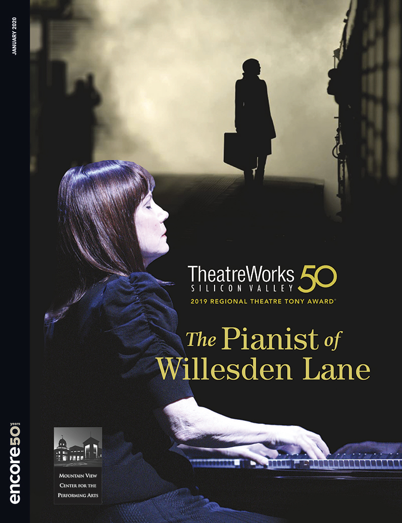 Cover for The Pianist of Willesden Lane at Theatreworks, 2020.