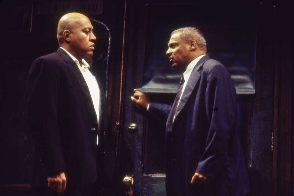 Keith Randolph Smith (left) in Seattle Rep's 2002 production of 'Jitney.'