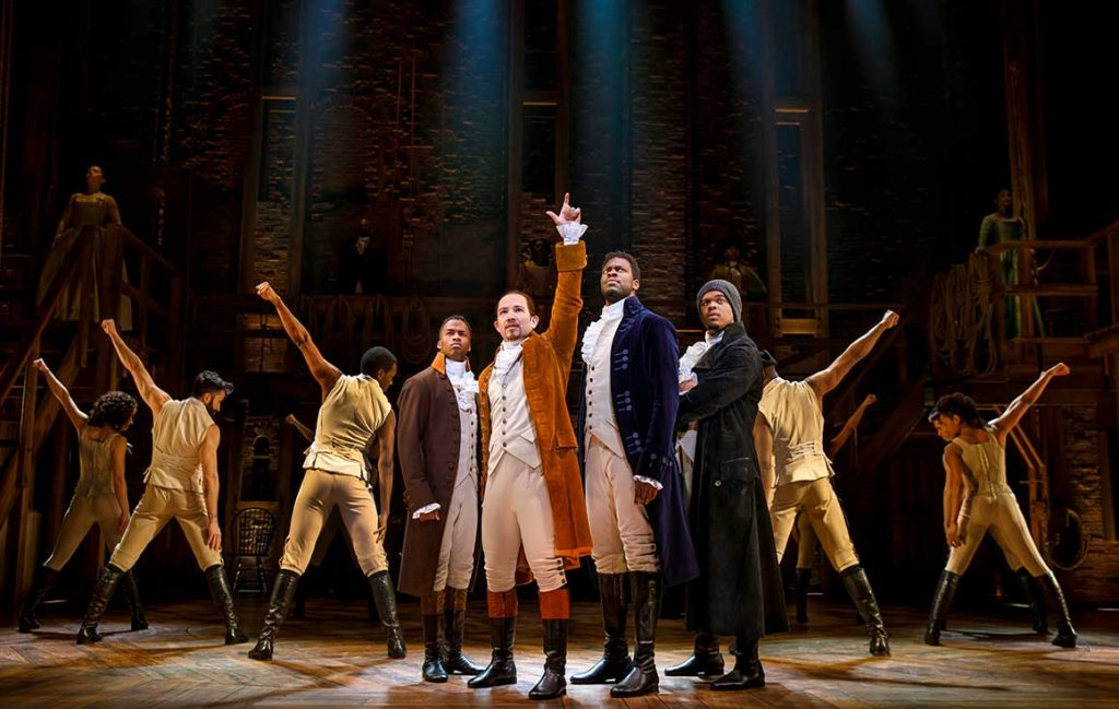 National tour cast of 'Hamilton.'