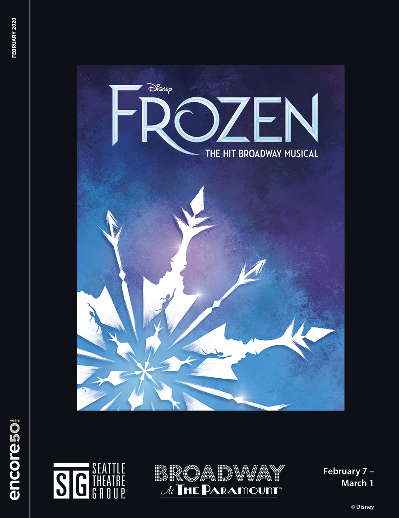 Cover for Disney's Frozen at the Paramount, 2020.