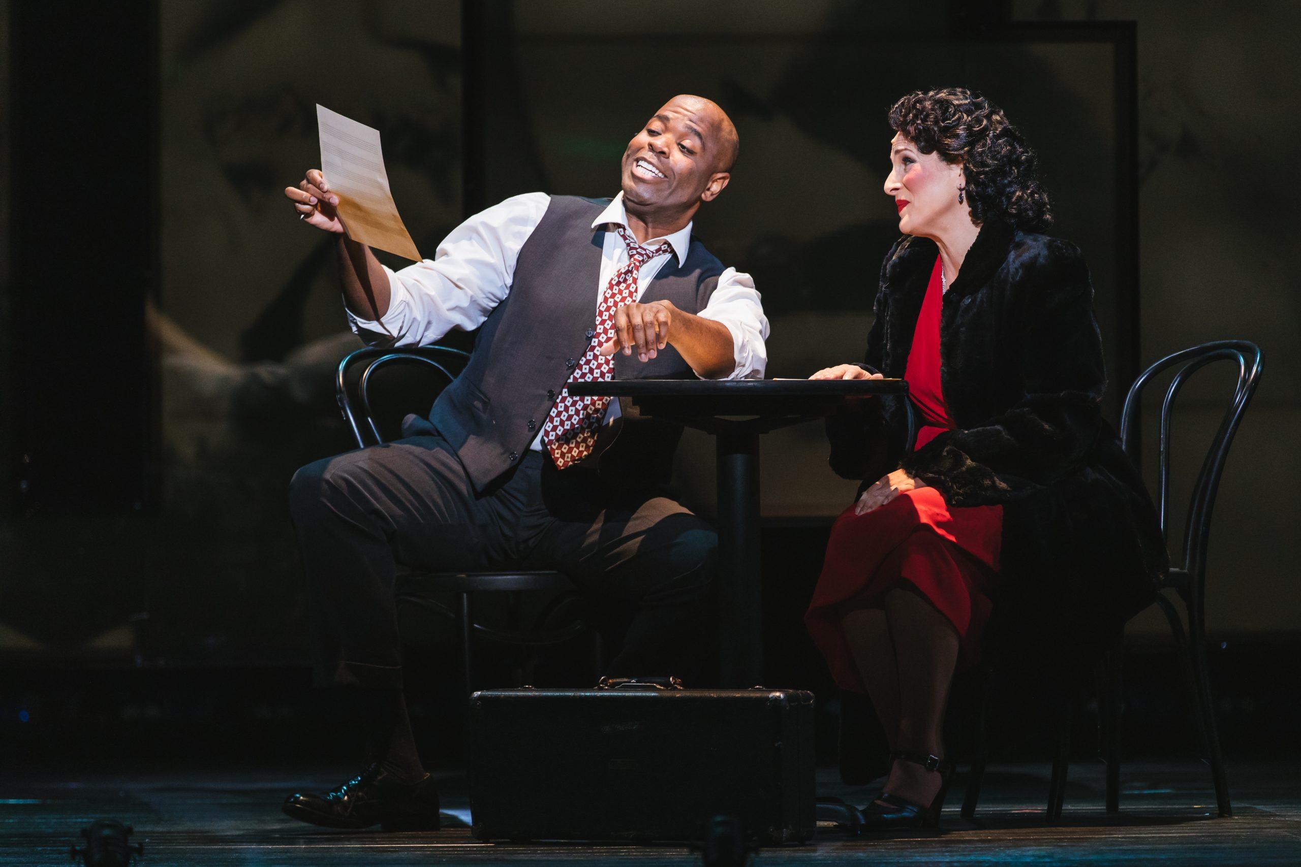 Joshua Stewart and Audrey Babcock in Seattle Opera's 'Charlie Parker's Yardbird.'