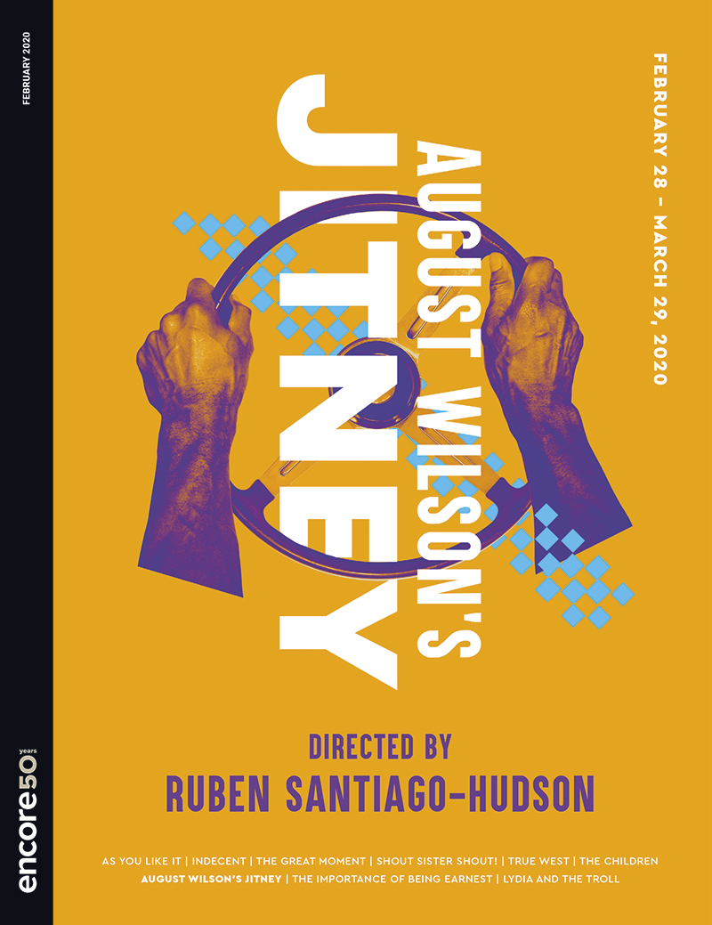 Cover for August WIlson's Jitney at Seattle Rep, 2020.