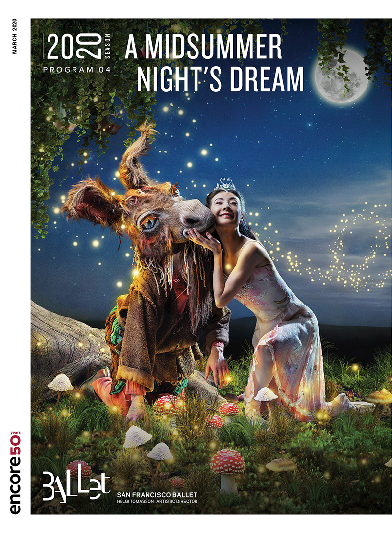 Cover for A Midsummer Night's Dream at San Francisco Ballet, 2020.