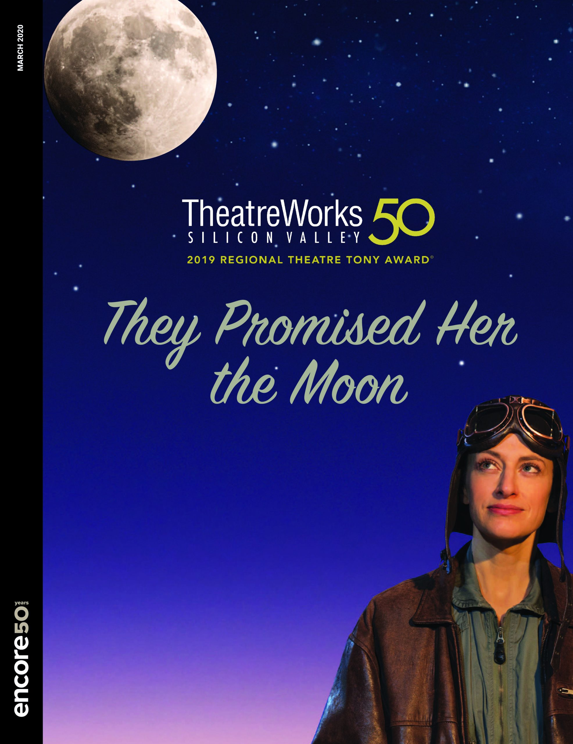 Cover for tThey Promised Her the Moon at Theatreworks, 2020.