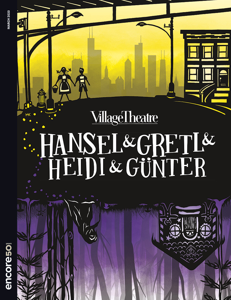 Cover for Hansel and Gretl and Heidi and Gunter at Village Theatre 2020.