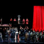 "Production photo of Verdi's ""Don Carlo"""