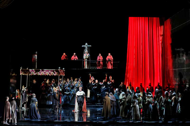 "Production photo of Verdi's ""Don Carlo"""