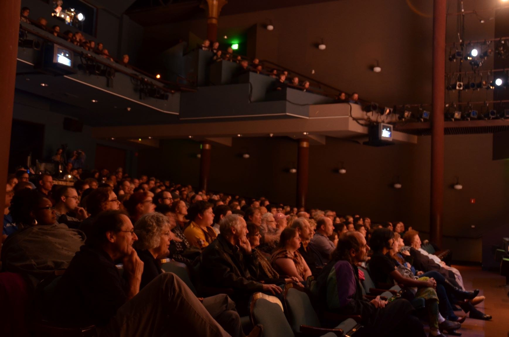 """audience at Village Theatre performance of """"Fiddler on the Roof"""""""
