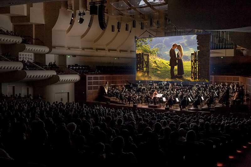 audience watching The Princess Bride at Davies Symphony Hall