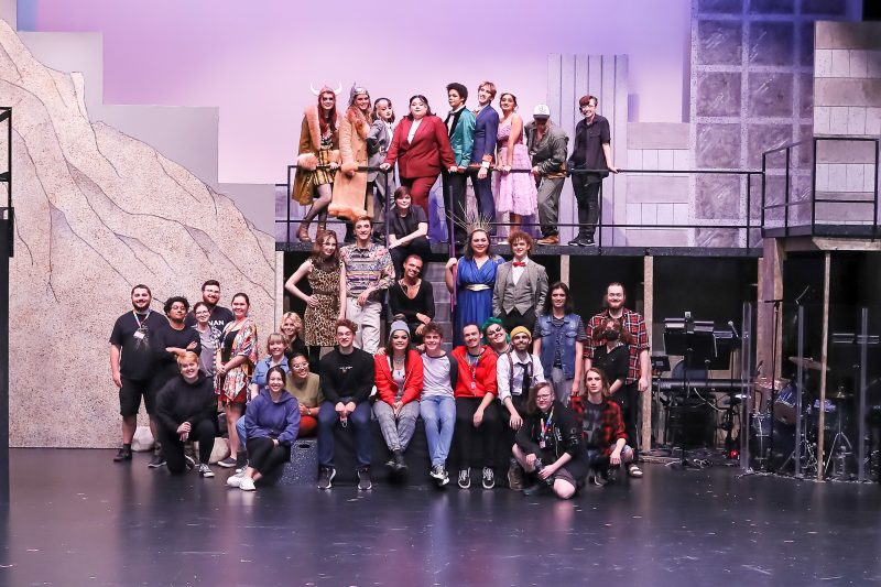 """Cast and creative team of """"Jasper in Deadland"""", a production of Village Theatre's summer independent program."""