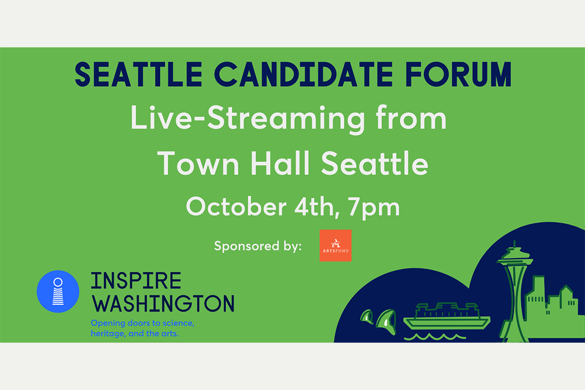 Forums at TownHall Seattle Will Give Candidates a Platform to Share Their Cultural Plans for the Region